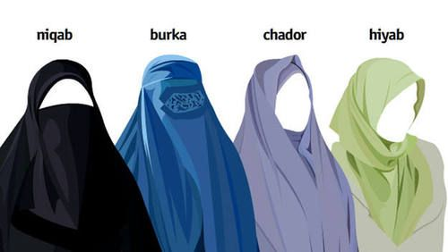 Erinevad moslemitest naiste peakatted