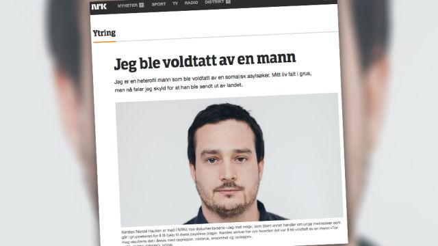 Karsten Nordal Hauken, immigrandi poolt vägistatud mees
