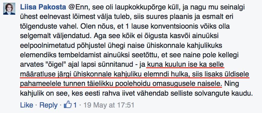 Priit Dievese poolt väljendatud seisukohad on võrdõigusvolinik Liisa Pakostale ilmselgelt ebasümpaatsed. Aeg näitab, kas see mõjutab ka Pakosta professionaalset hinnangut Dievese kaasusele?