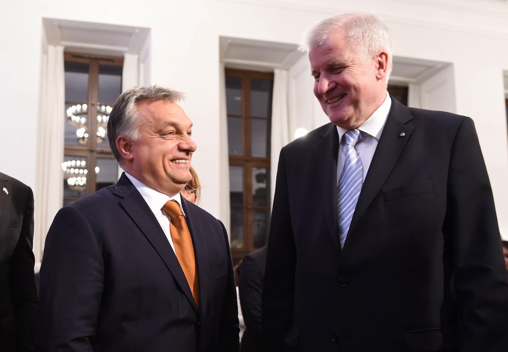Viktor Orbán (vasakul) ja Horst Seehofer äsjasel kohtumisel. Foto: Christof Stache, AFP/Scanpix