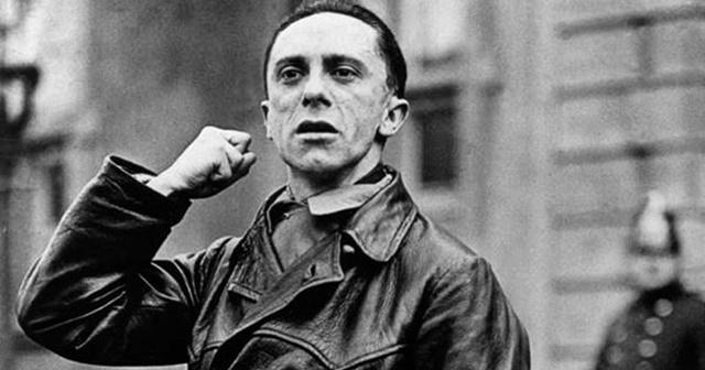 Natside propagandapealik Joseph Goebbels.
