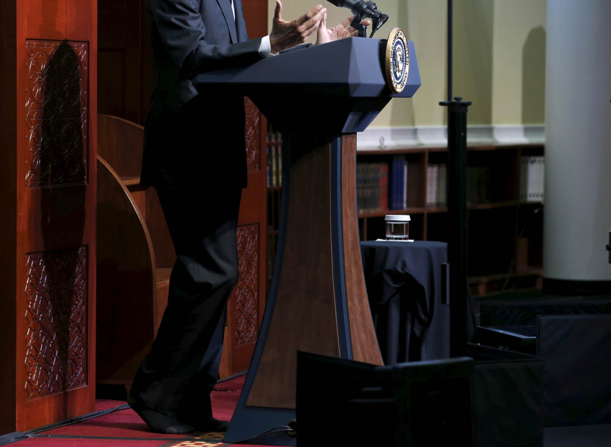 Sokkides Obama islami asju arutamas. Foto: Jonathan Ernst, Reuters/Scanpix