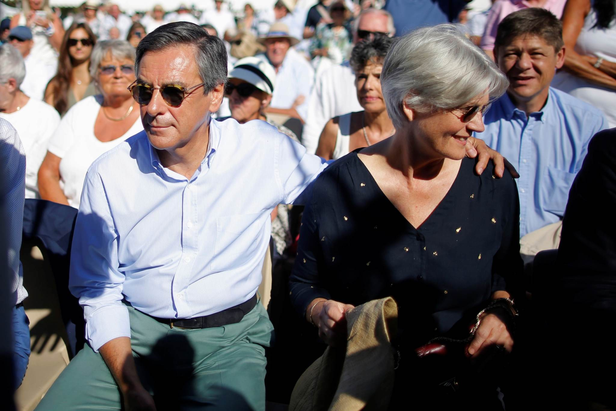 François Fillon sel sügisel koos abikaasa Penelopega erakonna üritusel. Foto: Stephane Mahe, Reuters/Scanpix