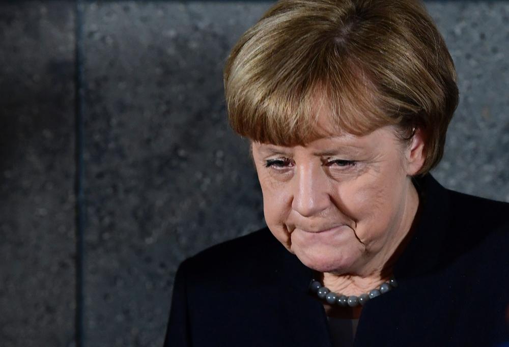 Angela Merkel 22. detsembril Saksa kriminaalpolitseis Berliini veoautorünnaku asjus seisukohta avaldamas. Foto: Tobias Schwarz, AFP/Scanpix