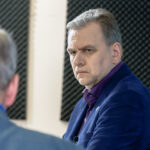 Andres Herkel otsesaates Otse Postimehest. Foto: Scanpix