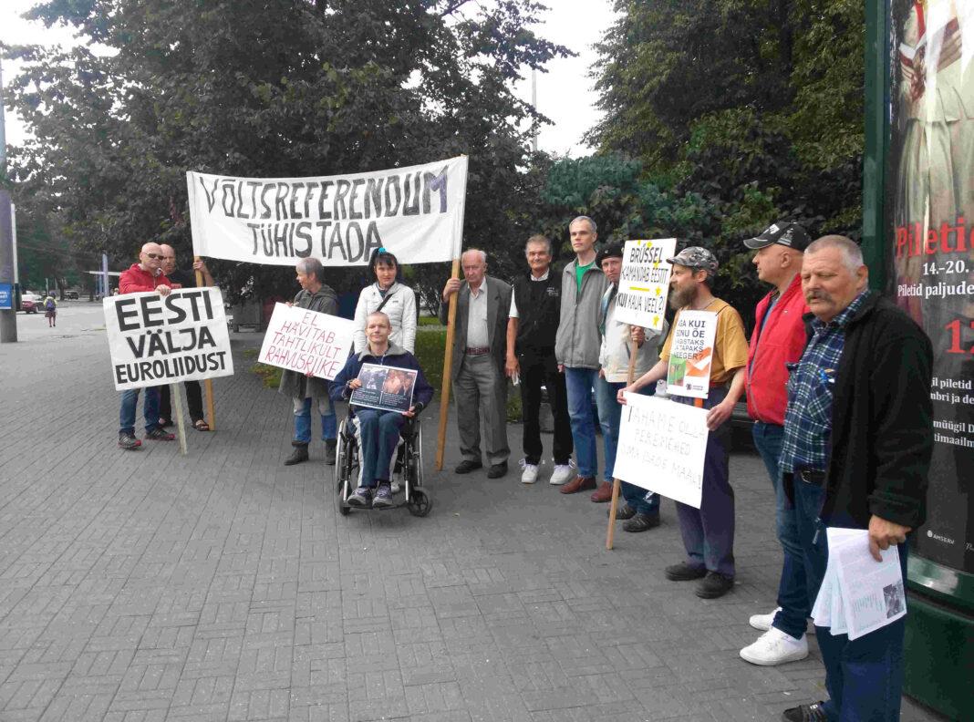 Rahvuslased korraldavad laupäeval Tallinnas piketi, millega nõuavad Eesti lahkumist Euroopa Liidust